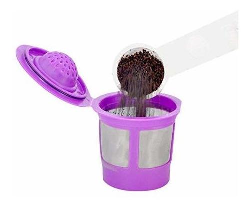 k tazas reutilizables para cafeteras keurig 2.0 y 1.0 4 pack