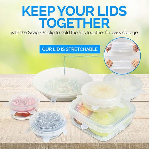 k -ware alimentación cubierta conjunto de 6 reutilizable si
