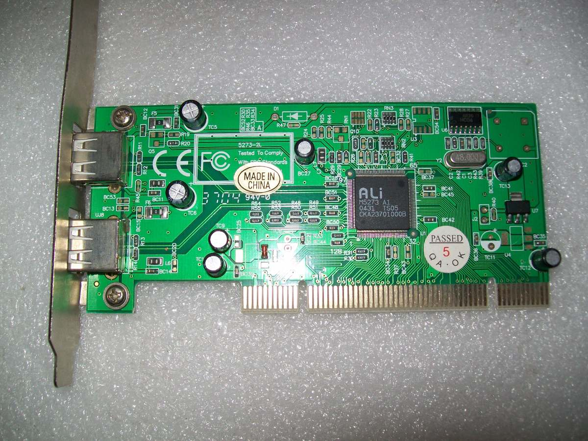 DOWNLOAD DRIVER: ALI M5273 USB 2.0