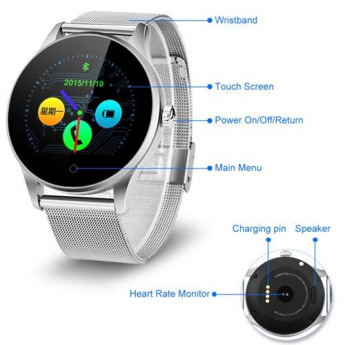 e8cd72d8d9a K88h Bluetooth Elegante Reloj Pulsómetro Para El iPhone Ios ...