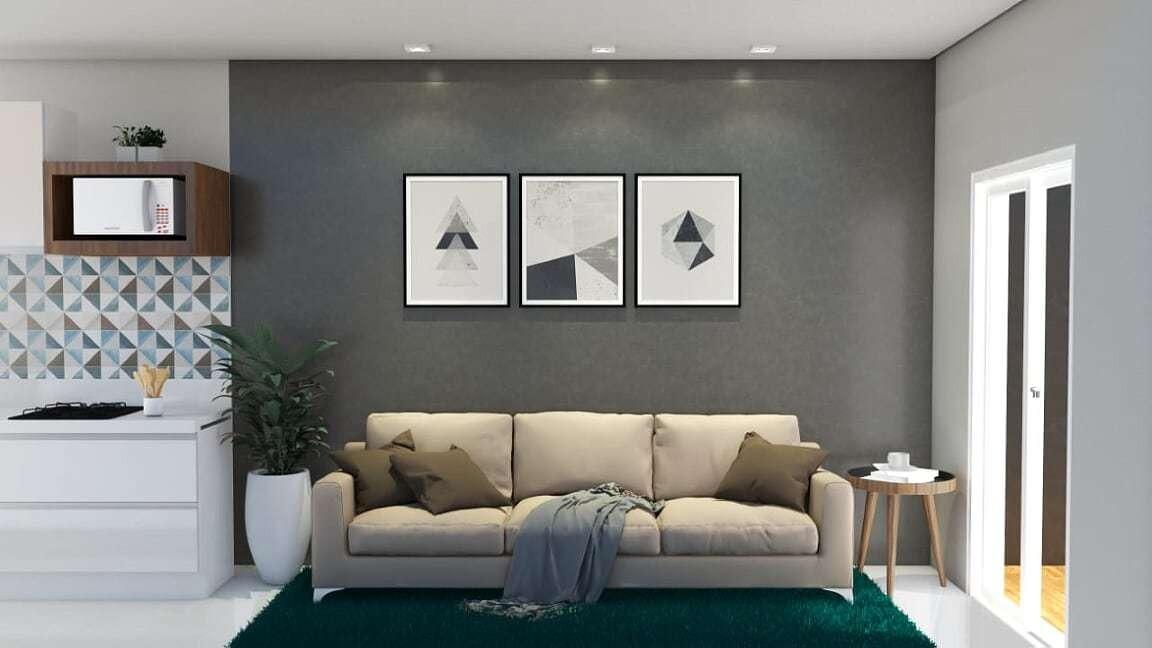(k.a) apartamento com sala para 2 ambientes com varanda goum