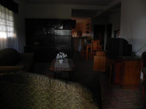 (k.a) casa com salão de festa já mobiliada, acesso asfaltado