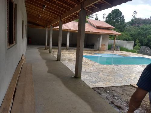 (k.a) chácara para veraneio santa isabel, com piscina