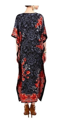 kaftan tunica kimono vestido mujer verano noche maxi fiesta