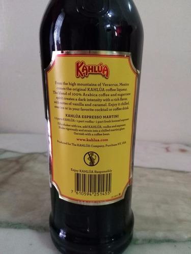 kahlua - licor de cafe - 1 litro