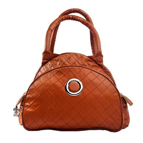 kalencom bellisima sassy continental flair bag, caramel [ca