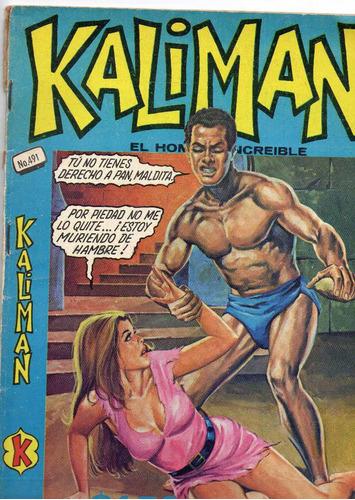kalimán no.491,  abril 1975, 15 x 21 cm.  muy cuidada