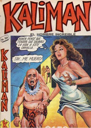 kalimán no.504,  julio 1975, 15 x 21 cm.  muy cuidada