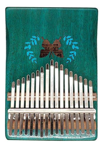 kalimba mbira - piano portátil (17 teclas, madera maciza)