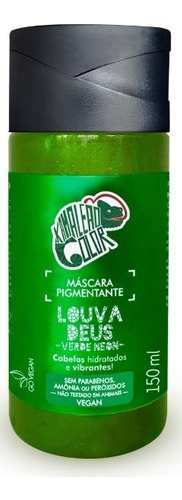 kamaleão color máscara pigmentante louva deus - verde neon