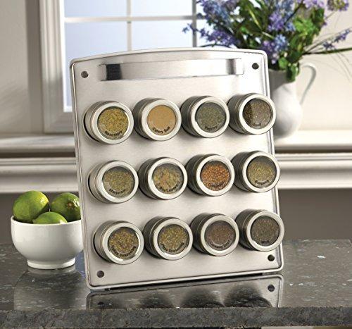 kamenstein magnetic 12tin spice rack con repuestos de esp