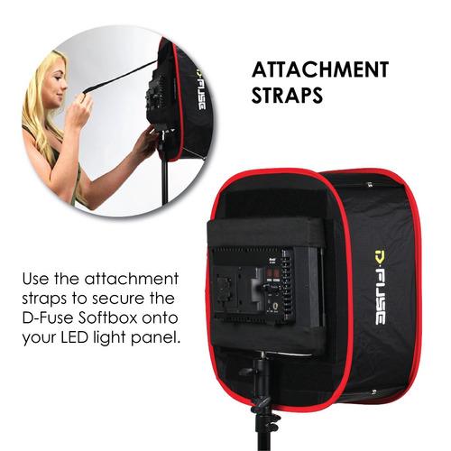 kamerar d-fuse large led light panel softbox: apertura 12 -i
