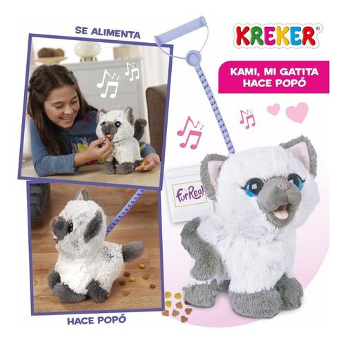 kami mi gatita hace popó! con sonido. hasbro furreal kreker