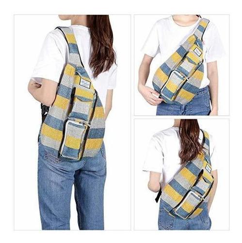kamo sling mochila - mochila de viaje multiusos para hombres