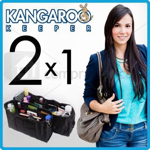 kanguroo keeper organizador de bolso dama grande pequeño 2x1