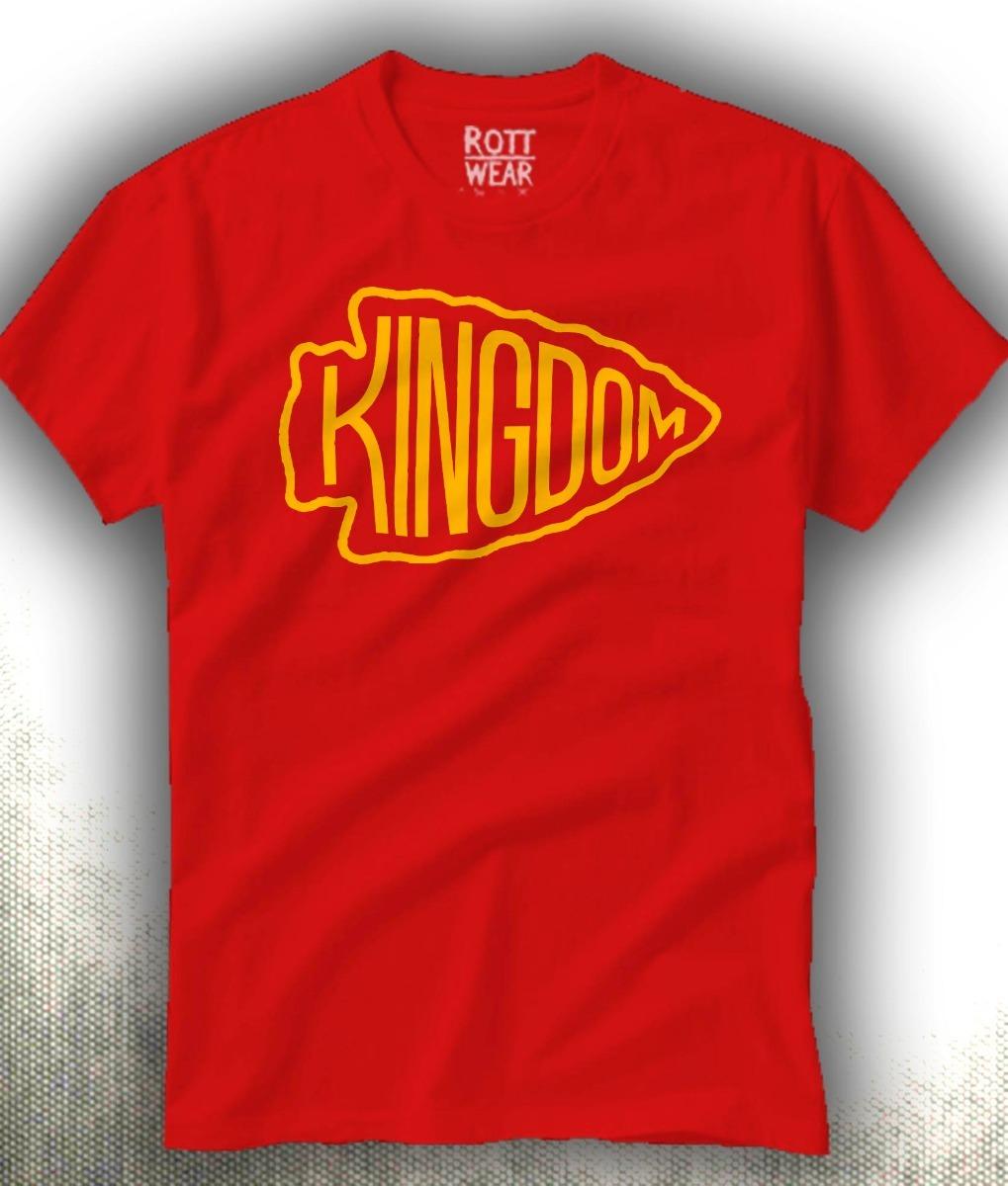 sports shoes 1b482 6d6a4 Kansas City Chiefs Kingdom Kc Nfl Playera Rott Wear