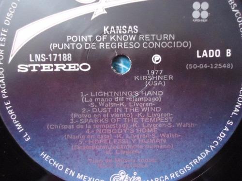 kansas / point of know return vinyl lp acetato