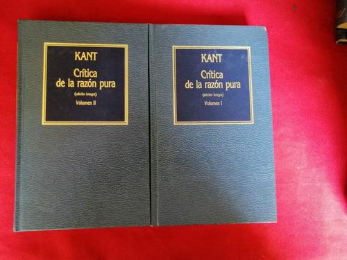 kant, critica de la razon pura.2 tomos. orbis