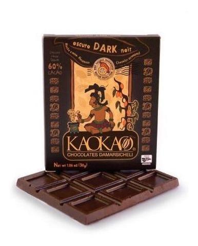 kaokao - barra de chocolate oscuro 60% 30 gr