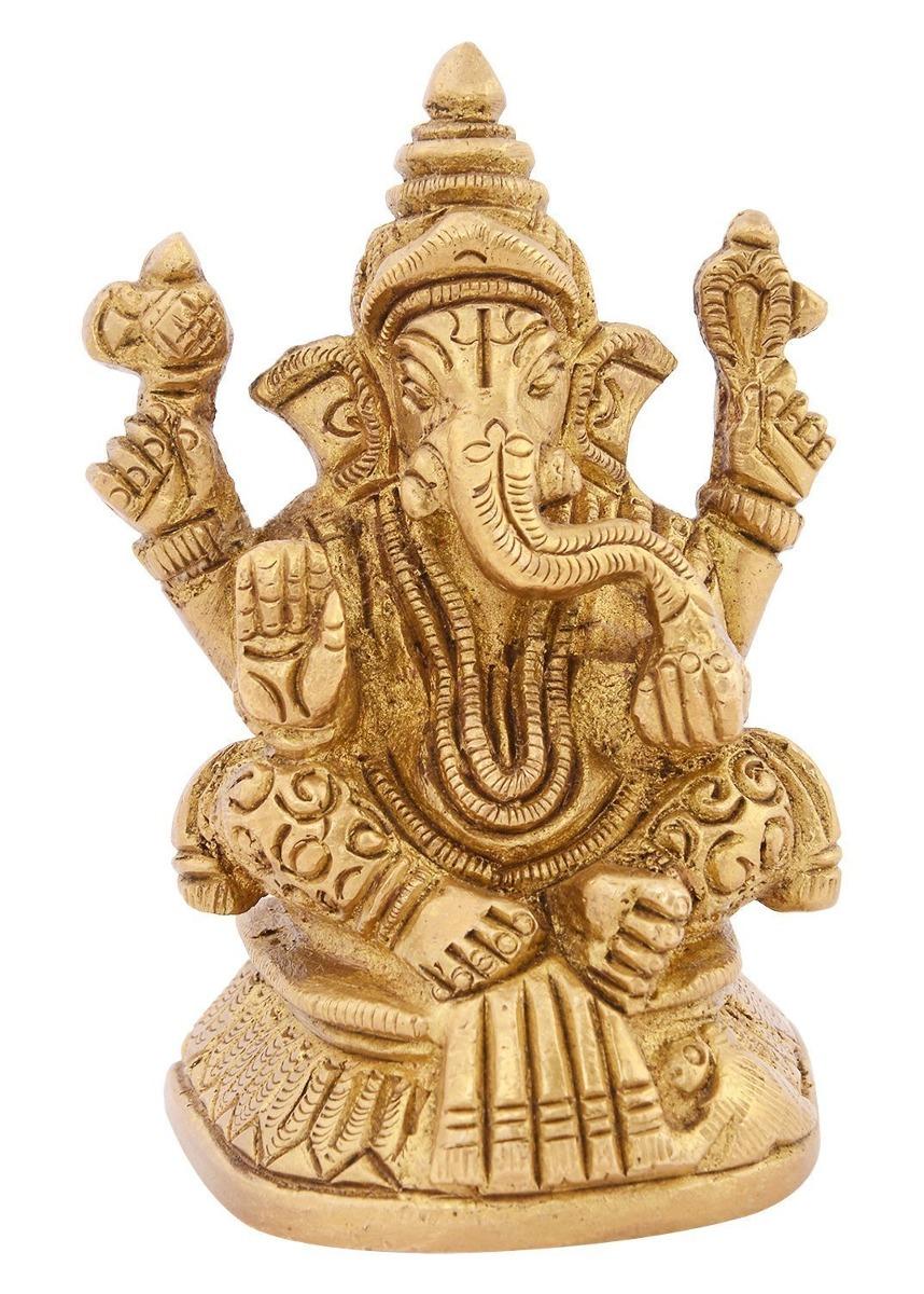 Kapasi Handicrafts Emporium Brass Ganesh Idolo Decorativo
