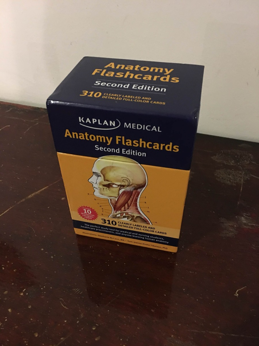 Awesome Kaplan Medical Anatomy Flash Cards Gift - Human Anatomy ...