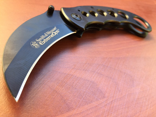 karambit smith & wesson cuchillo tactico curvo