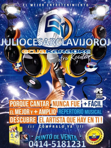 karaoke 7900 canciones 11 dvd (portable)