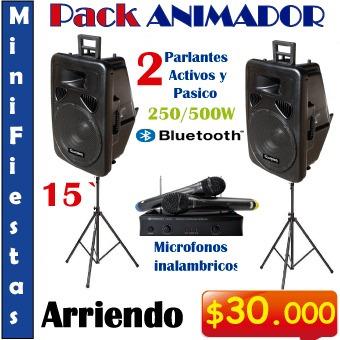 karaoke a domicilio, amplificación, proyector + telón y más