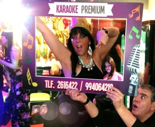 karaoke delivery en casa con pantalla gigante dj luces & más