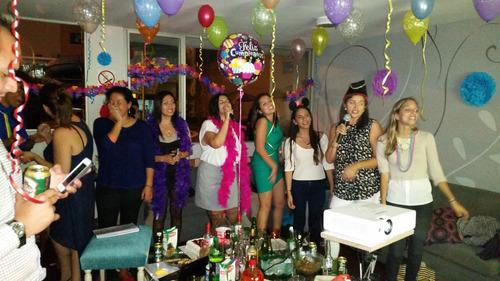karaoke en casa microfono alquiler pantalla gigante proyecto