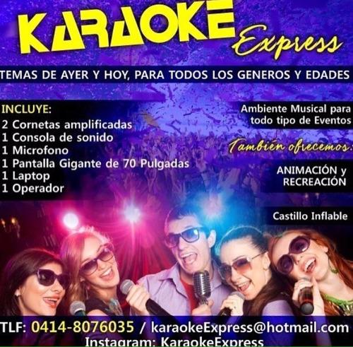 karaoke express alquiler para fiestas