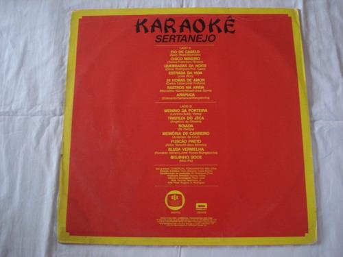 karaoke-lp-vinil-karaoke sertanejo-mpb-com encarte