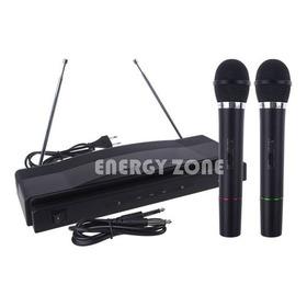Karaoke Microfonos Inalambricos Duo 2 En 1 - Alto Rango Inal