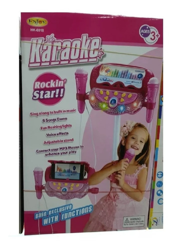 karaoke musical juguete microfono mp3 doble