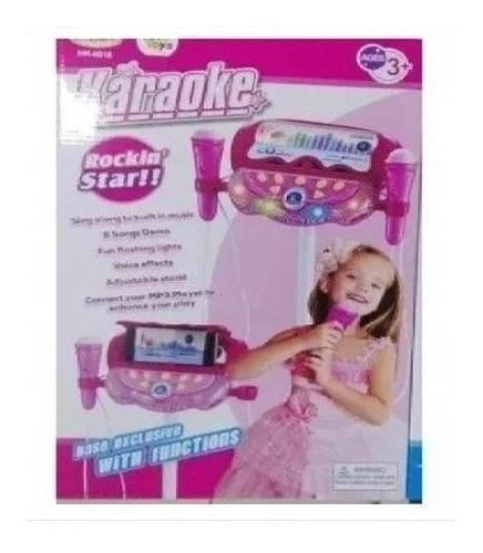 karaoke musical juguete microfono mp3 doble env inmediato