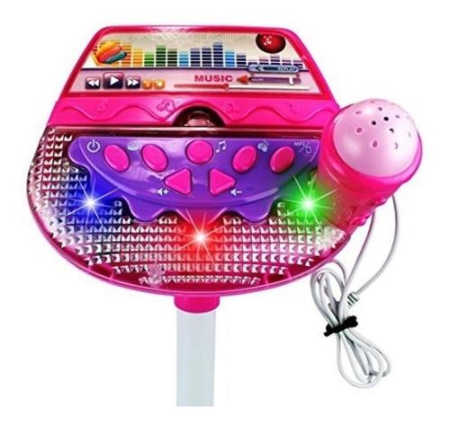 karaoke niña musical rosado, conexión mp3