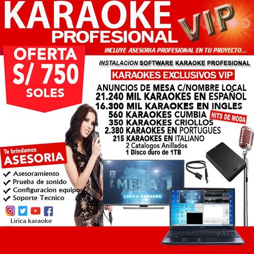 karaoke oferta pack profesional