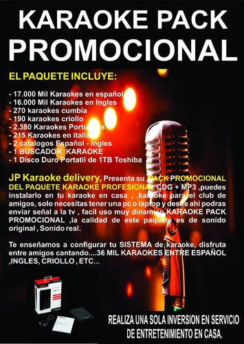 karaoke pack promocional