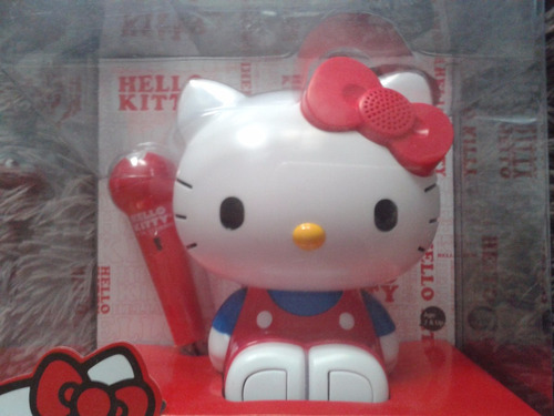 karaoke portatil + radio hello kitty