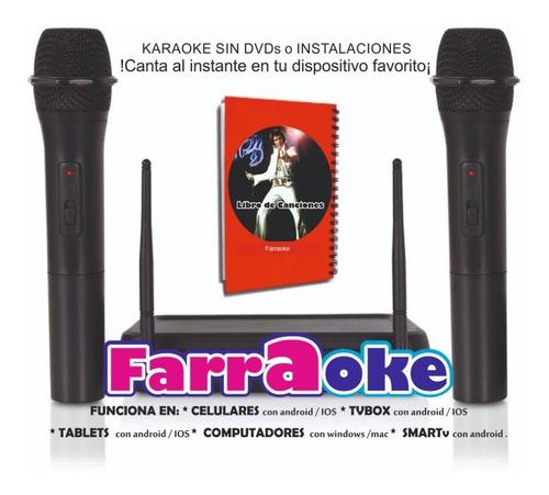 karaoke profesional 8.100 temas + 2 microfonos inalambricos