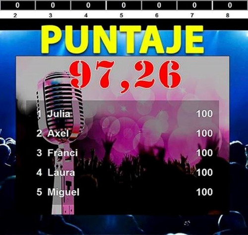 karaoke profesional + 8mil temas + puntaje + cancionero *tm*