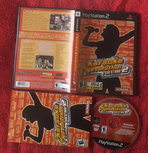 karaoke revolution volume 2 - konami / playstation 2 ps2