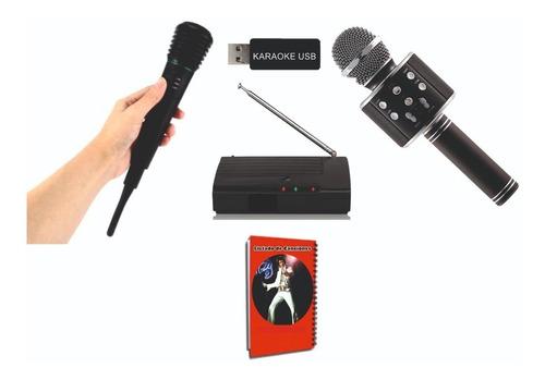 karaoke usb 8100 temas + 2 micrófonos inalambricos + libro