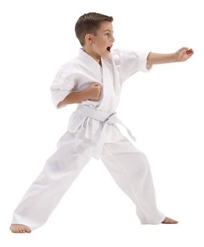 karate gi kimono completo 3 piezas niños & adultos - blanco