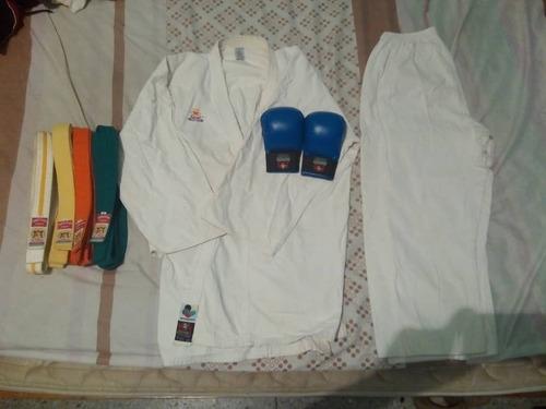 karategui, guantes y cintas bushido (karate)