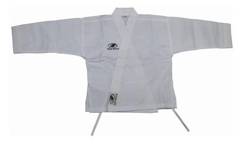 karategui liso casaca larga poder marcial para niño