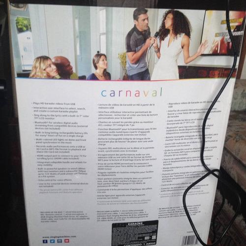 kareoke singing machine carnival 9035, microfonos, bluetotch
