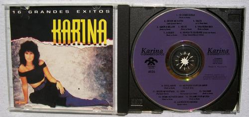 karina. 16 grandes exitos. cd rodven 1993