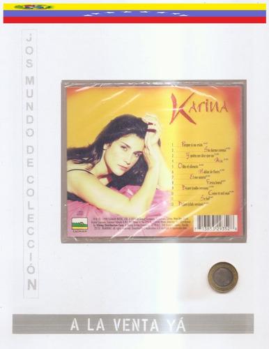 karina  - cd original nuevo - un tesoro musical