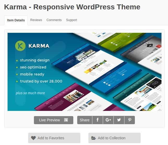 Karma Responsive Wordpress Theme - Tema Wordpress - R$ 5,00 em ...